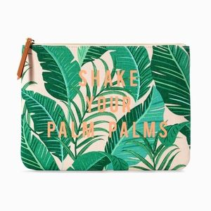 Stella & Dot Shake your Palm Palms Clutch